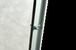 Замек с язычком на передней двери, виден способ и аккуратность крепления стекла