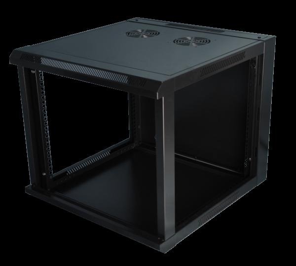 Шкаф SilverLAN Настенный черный с без двери и боковых стенок