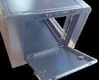 Шкаф SilverLAN Настенный серый с открытой дверью и боковой панелью