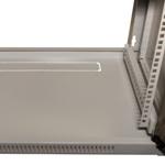 Дно шкафа 19 настенного, видна заглушка-кабельный ввод, цвет серый