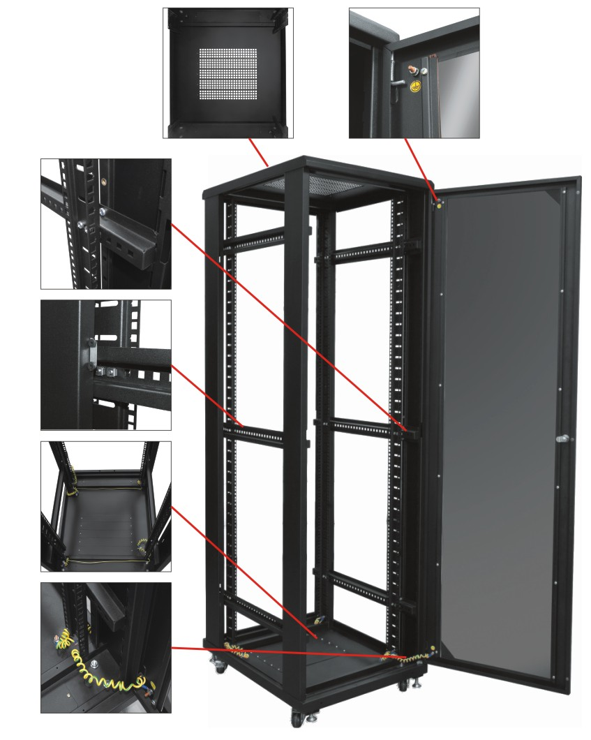 схема сборки телекамуникационные шкафа под сервер