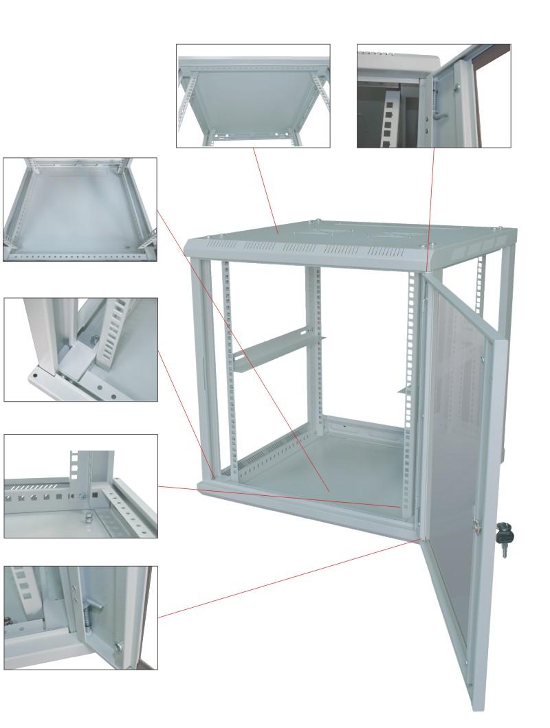 Шкаф настенный 19'' детализация